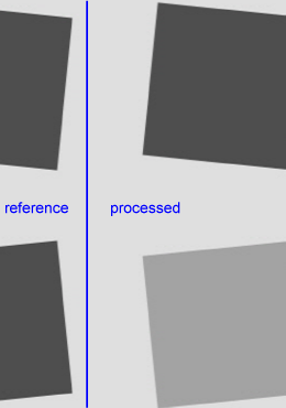 Reference edge for MTF measurement