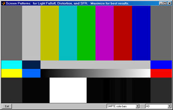 SMPTE color bars - HD