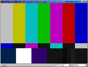 SMPTE color bars - original