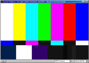 SMPTE color bar, original lightened