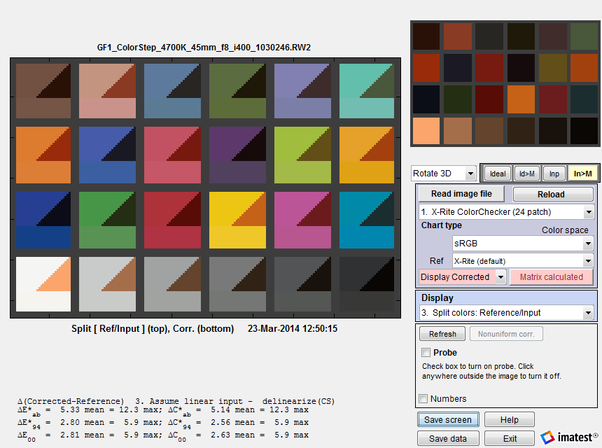 Color Correction Matrix Ccm Imatest