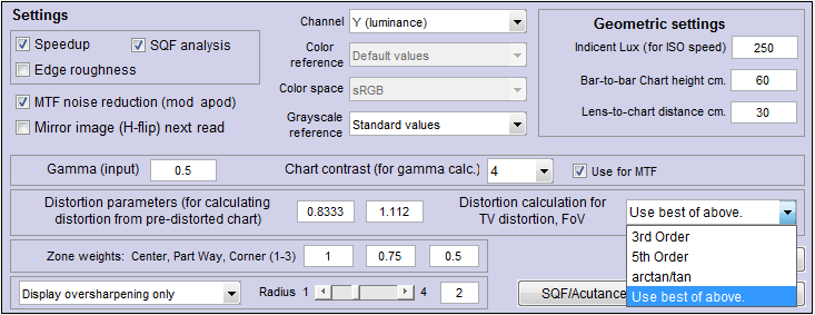 SFRplus Distortion and Field of View measurements | imatest