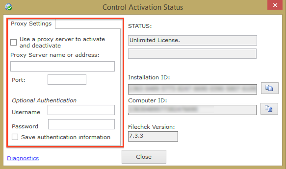 Control Activation Status