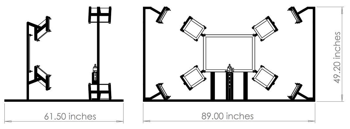 Imatest Wide FOV Test Fixture Dimension
