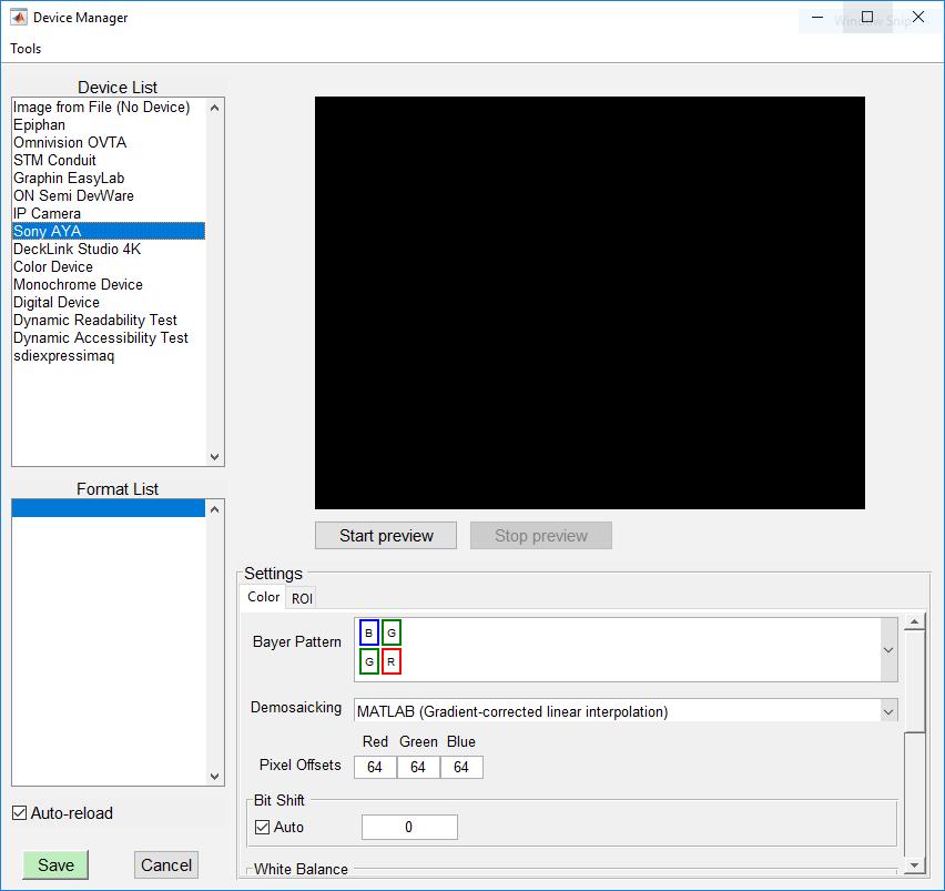 Imatest Image Acquisition with Sony AYA | imatest