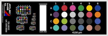 Nist Traceable Color Calibration Slide IAM-9C