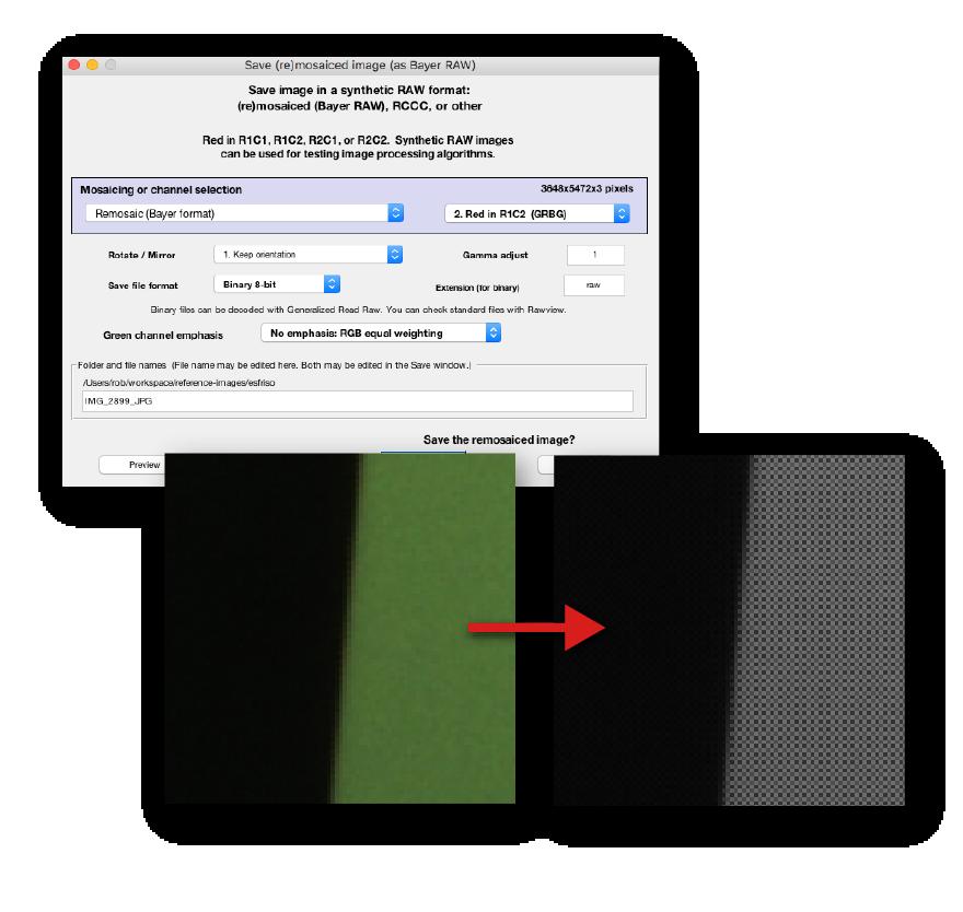 Imatest 5.1 - Remosaicking