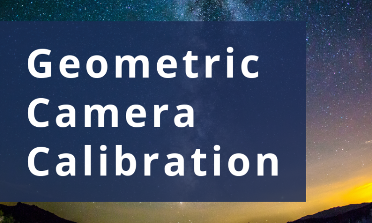What is geometric calibration? Geometric camera calibration, also known as Camera intrinsics calibration or multi-camera calibration, is the process of estimating the parameters required to relate (2-D) points in a camera's image plane with (3-D)