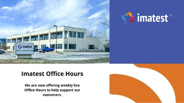 Imatest Office Hours